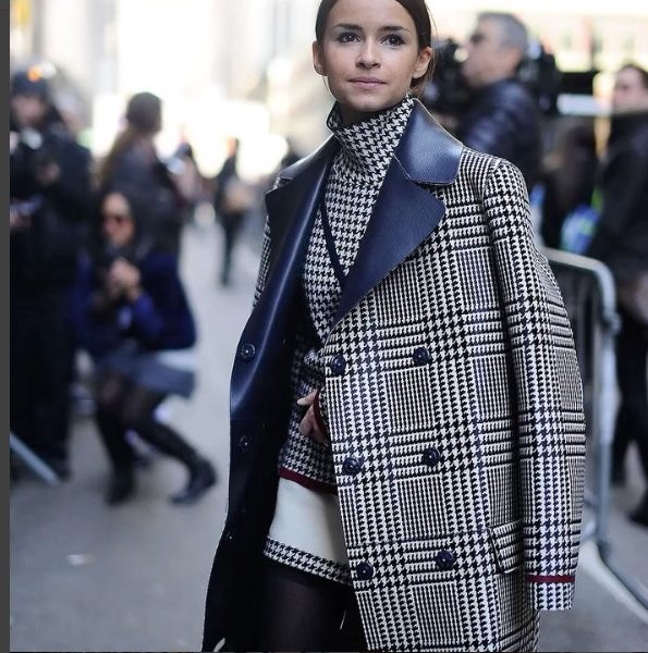 Miroslava Duma check jacket