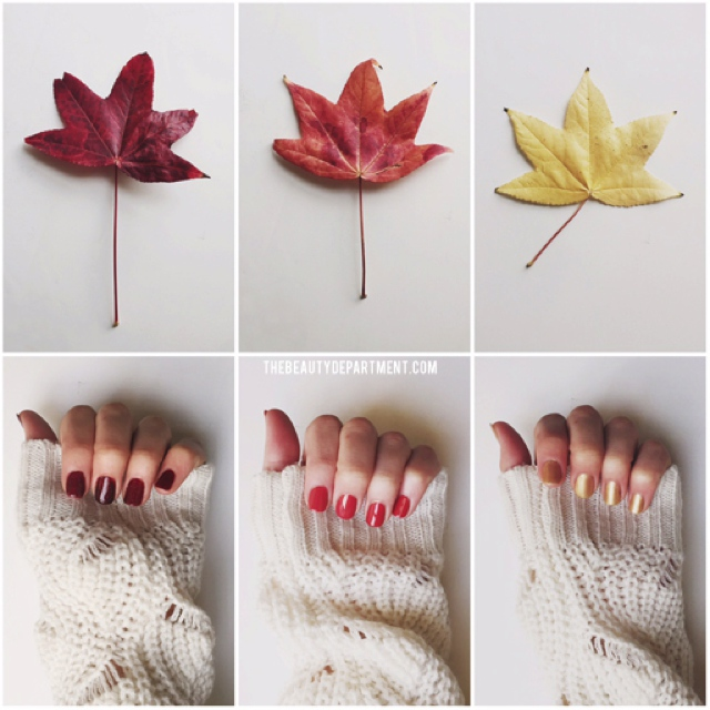 fall leef nail polish