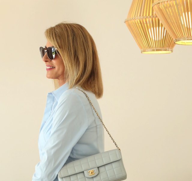 COS shirtdress Chanel baby blue bag Trendsurvivor Nina Papaioannou02