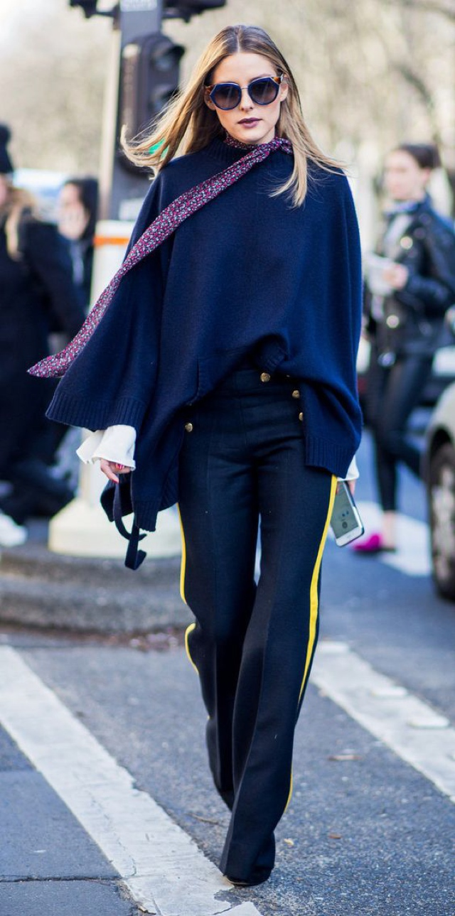 Olivia palermo blue outfit