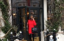 London // The red sweater dress