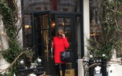 Red sweater dress blogger style Trendsurvivor Nina Papaioannou