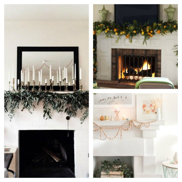 Christmas decor ideas fireplace