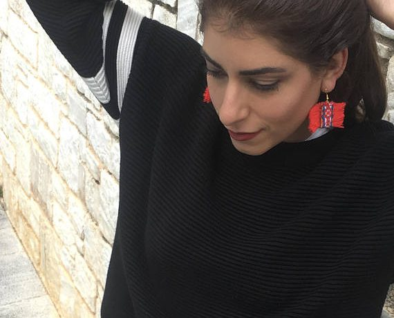 Niki svolou earrings red