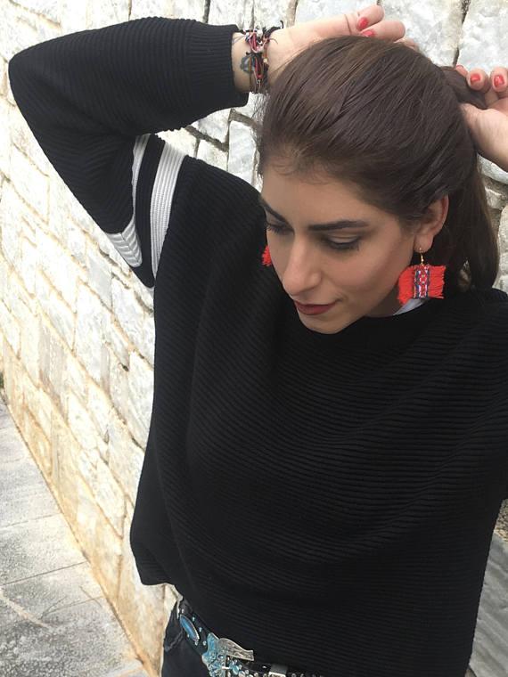 Niki svolou earrings red