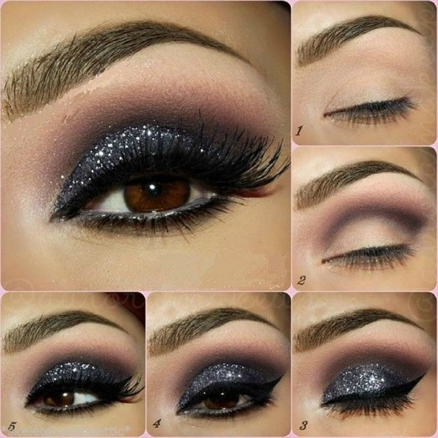 glitter eyes tutorial