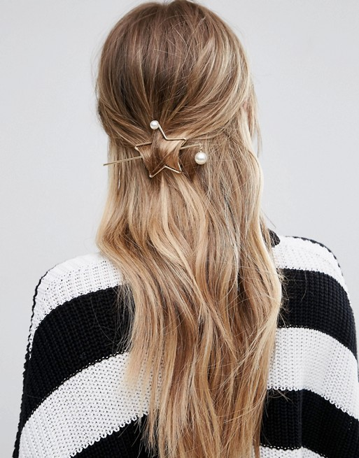 star through hair pin