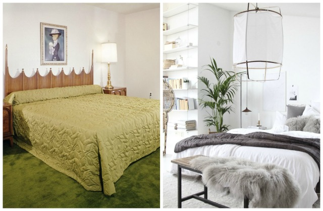 bedroom then now