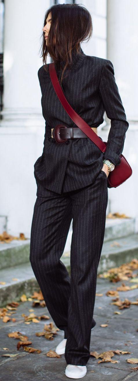 belt over suit
