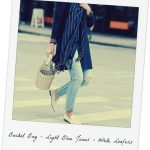 3 Fresh Trends Bucket Bag- Light Wash – White Loafers