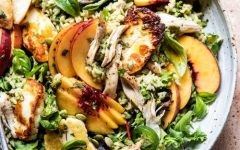 chicken salad peach