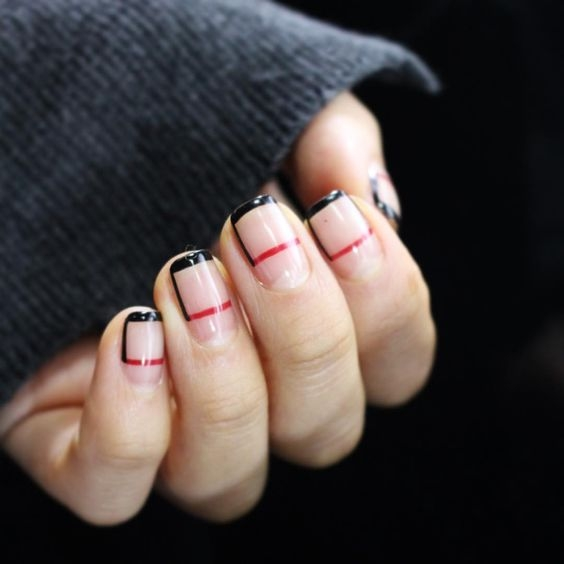 red black nail polish