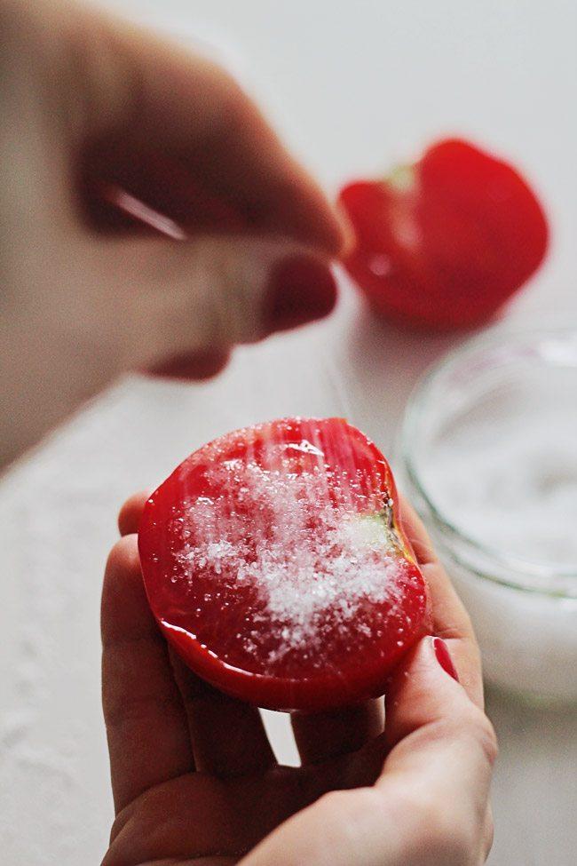 use a tomato with sugar
