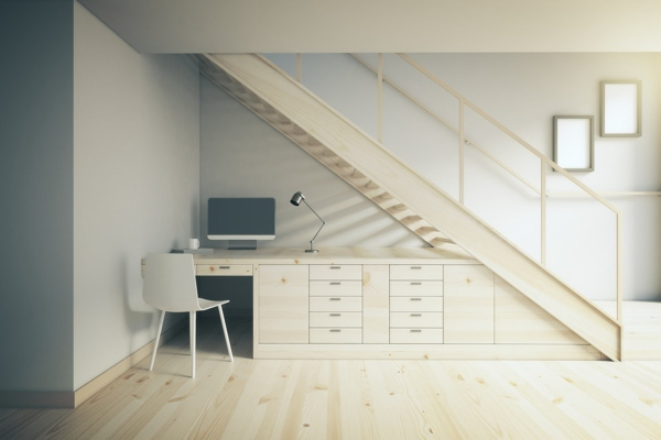 staircase home office