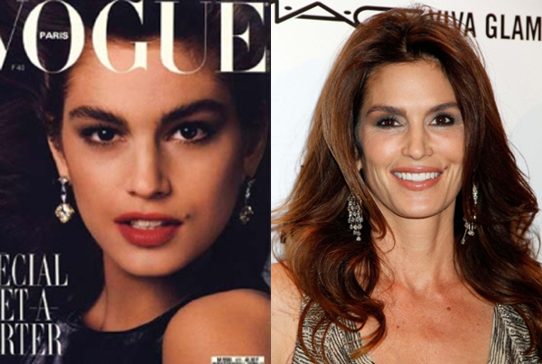 Age-Defying Beauty Secrets by Cindy Crawford,Then now00