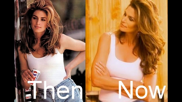Age-Defying Beauty Secrets by Cindy Crawford,Then now02
