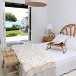 Calista Seafront Beach House bedroom in Glyfada, Corfu