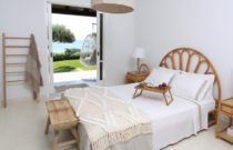 Calista Seafront Beach House bedroom in Glyfada, Corfu