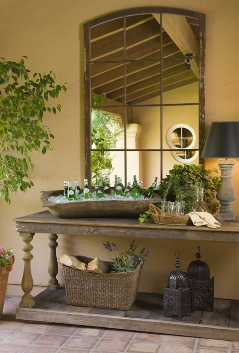 outdoor space mirror