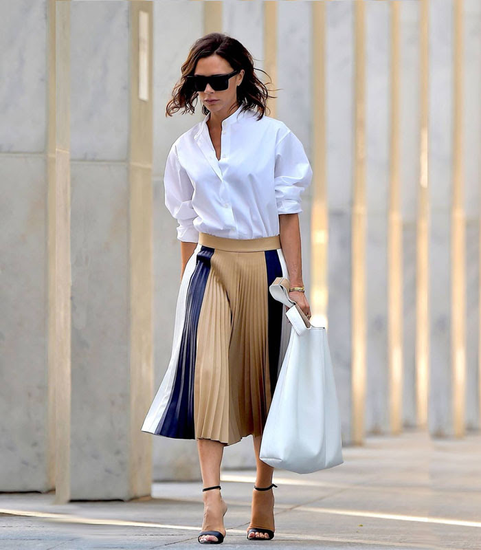 Victoria Beckhm pleated skirt