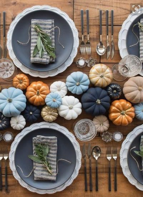 multicolor pumpkins decor