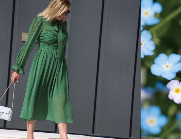 Green Self portrat dress