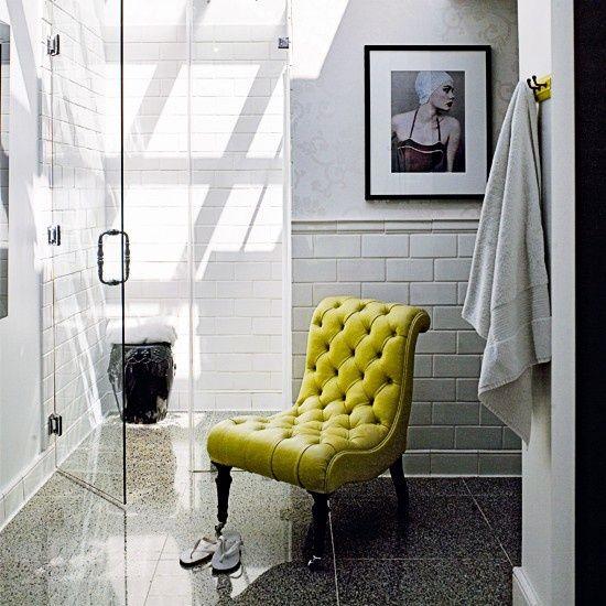 bathroom accent chair