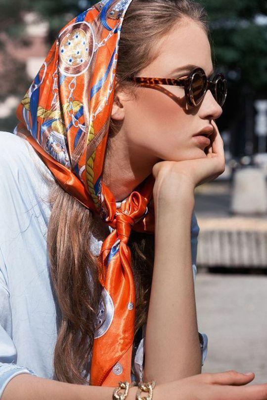 4f47cdc21acee 5 ways to wear a silk headscarf - TrendSurvivor
